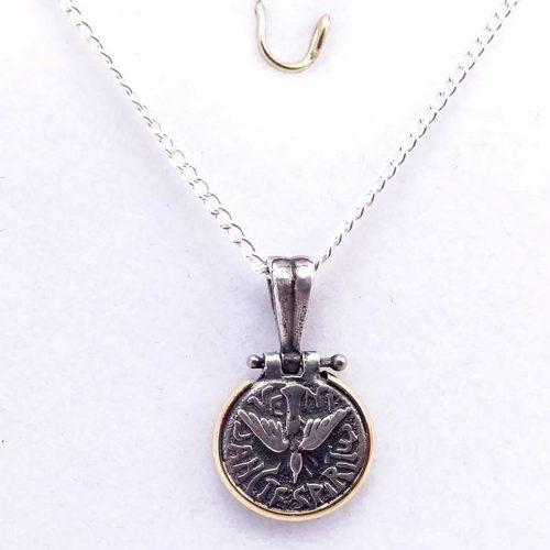 98c185498c82 Conjunto en plata y oro – Dije guarda griega con ónix y cadena ...